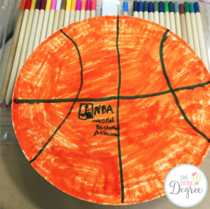 Basketball Poetry Plate
