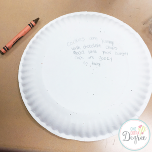 Cookie Poetry Plate Poem