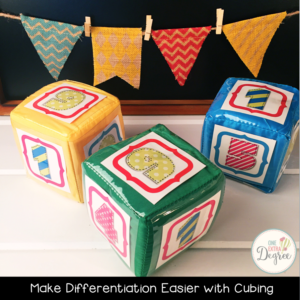 Use cubing to differentiate for ALL learners, and simply the process!