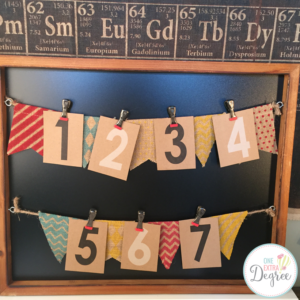 Vintage classroom decor is simple when you incorporate buntings, kraft paper, clips, and chalkboards. LOVE THIS LOOK!