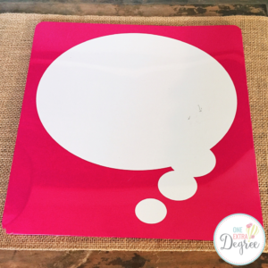 Thinking Aloud with a Dry Erase Thought Bubble